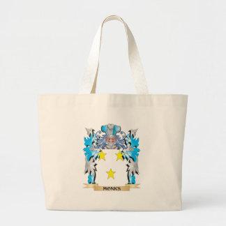 Escudo de armas de los monjes - escudo de la bolsas lienzo