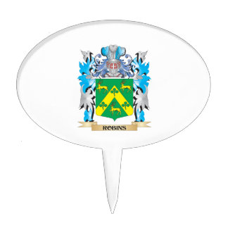 Escudo de armas de los petirrojos - escudo de la decoración para tarta