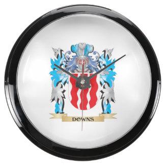 Escudo de armas de los plumones - escudo de la fam relojes acuario