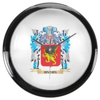 Escudo de armas de los ríos - escudo de la familia reloj aquavista