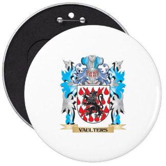 Escudo de armas de los saltadores - escudo de la pin redondo 15 cm