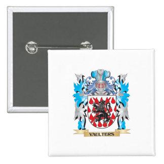 Escudo de armas de los saltadores - escudo de la pin cuadrada 5 cm
