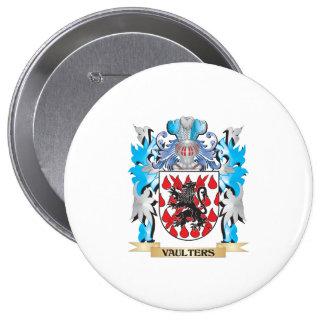 Escudo de armas de los saltadores - escudo de la pin redondo 10 cm