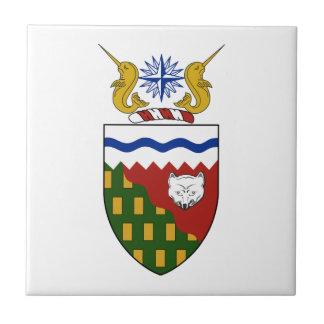 Escudo de armas de los territorios del noroeste azulejos cerámicos