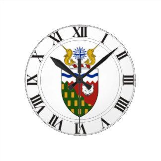 Escudo de armas de los territorios del noroeste reloj
