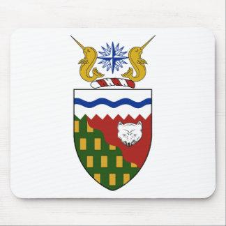 Escudo de armas de los territorios del noroeste tapete de ratón