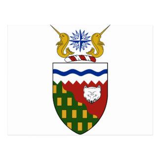 Escudo de armas de los territorios del noroeste postal