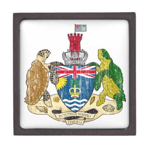 Escudo de armas de los territorios del Océano Índi Caja De Recuerdo De Calidad