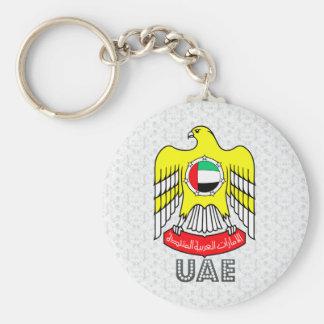 Escudo de armas de los Uae Llavero Redondo Tipo Pin