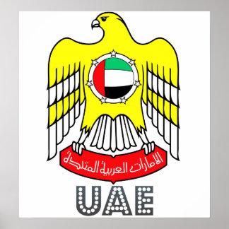 Escudo de armas de los Uae Poster