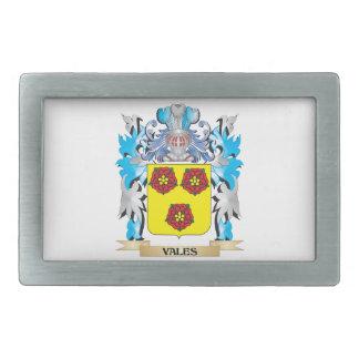 Escudo de armas de los valles - escudo de la hebilla cinturón rectangular