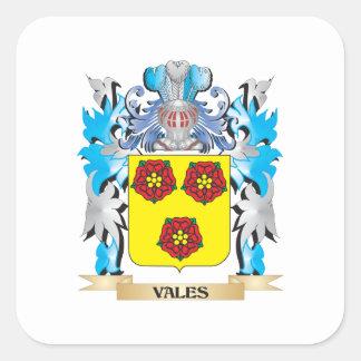 Escudo de armas de los valles - escudo de la colcomanias cuadradas