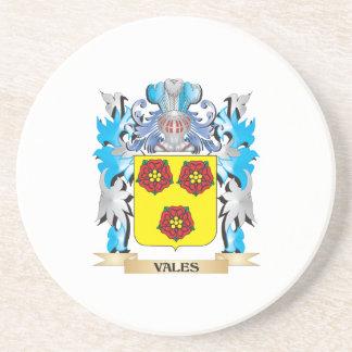 Escudo de armas de los valles - escudo de la posavasos manualidades
