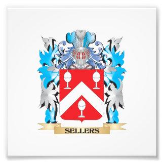 Escudo de armas de los vendedores - escudo de la impresiones fotograficas