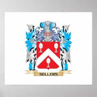 Escudo de armas de los vendedores - escudo de la póster