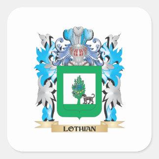 Escudo de armas de Lothian - escudo de la familia Calcomanía Cuadradas Personalizadas