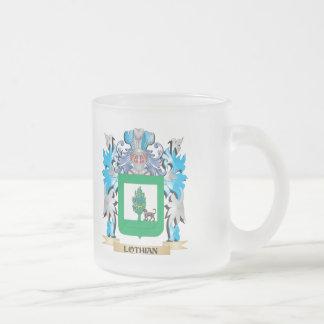 Escudo de armas de Lothian - escudo de la familia Taza Cristal Mate