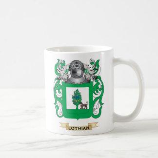Escudo de armas de Lothian (escudo de la familia) Taza Básica Blanca