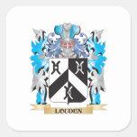 Escudo de armas de Louden - escudo de la familia Calcomania Cuadrada Personalizada