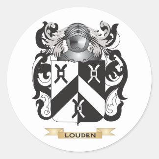 Escudo de armas de Louden (escudo de la familia) Pegatina Redonda
