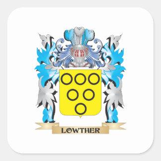 Escudo de armas de Lowther - escudo de la familia Pegatina Cuadrada