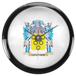 Escudo de armas de Lowther - escudo de la familia Relojes Pecera