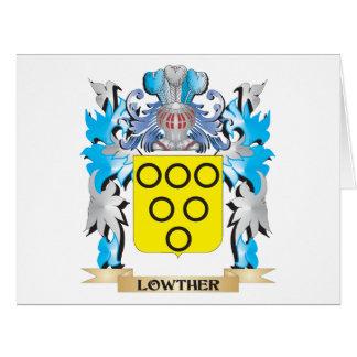 Escudo de armas de Lowther - escudo de la familia Tarjeta De Felicitación Grande