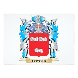 """Escudo de armas de Loyola - escudo de la familia Invitación 5"""" X 7"""""""