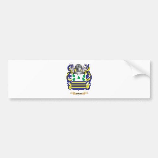 Escudo de armas de Luchi (escudo de la familia) Etiqueta De Parachoque