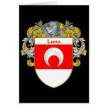 Escudo de armas de Luna (cubierto) Tarjeta