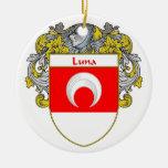 Escudo de armas de Luna/escudo de la familia Adornos De Navidad