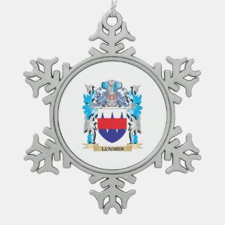 Escudo de armas de Lunardi - escudo de la familia Adorno De Peltre En Forma De Copo De Nieve