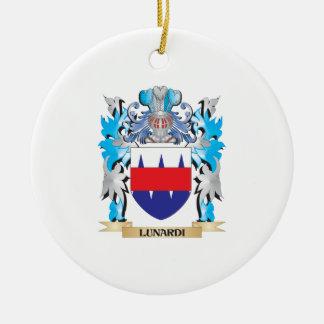 Escudo de armas de Lunardi - escudo de la familia Adorno Navideño Redondo De Cerámica