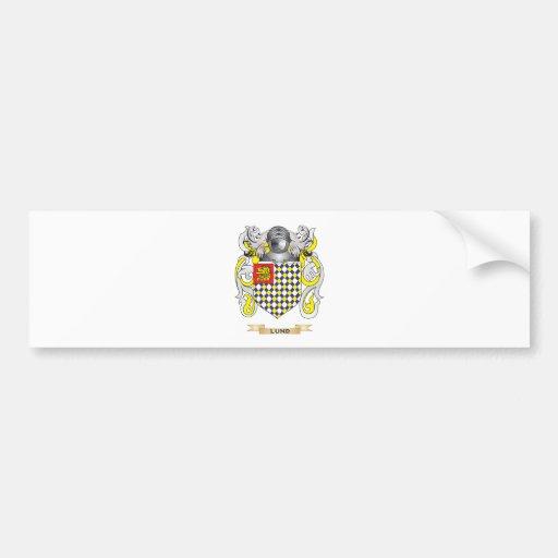Escudo de armas de Lund (escudo de la familia) Pegatina De Parachoque