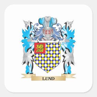 Escudo de armas de Lund - escudo de la familia Pegatina Cuadrada