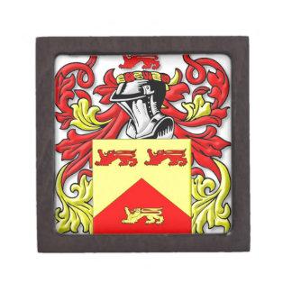 Escudo de armas de Lundie Cajas De Recuerdo De Calidad