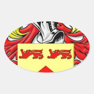 Escudo de armas de Lundie Calcomania Óval