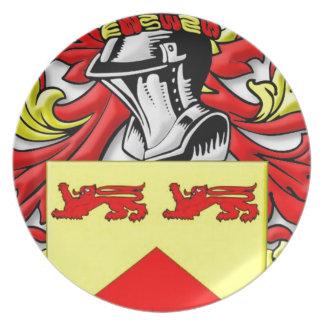 Escudo de armas de Lundie Platos De Comidas