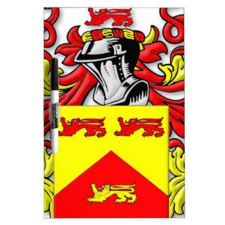 Escudo de armas de Lundie Tablero Blanco