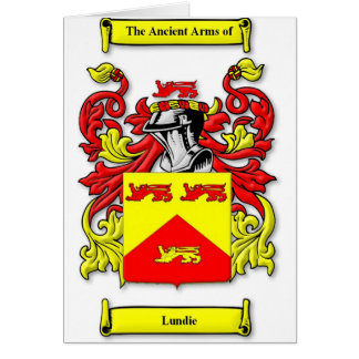 Escudo de armas de Lundie Tarjeta