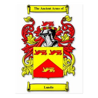 Escudo de armas de Lundie Tarjetas Postales