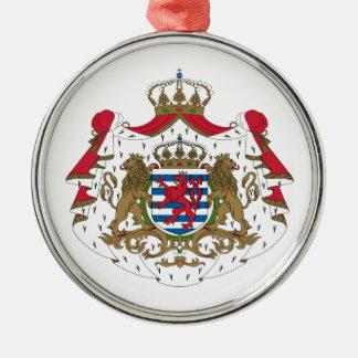Escudo de armas de Luxemburgo Adorno Navideño Redondo De Metal