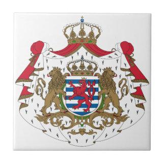 Escudo de armas de Luxemburgo Azulejo Cerámica