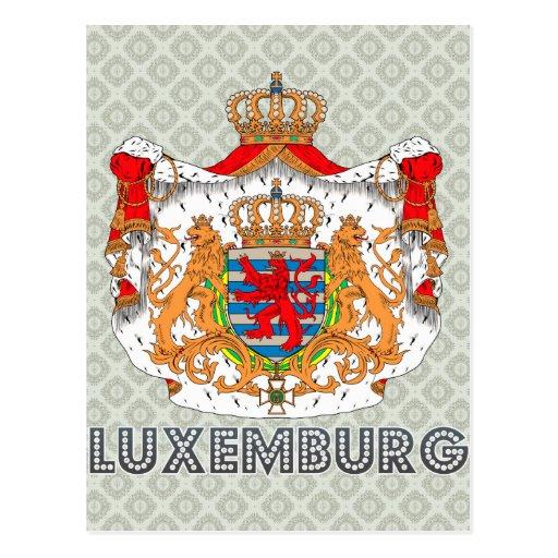 Escudo de armas de Luxemburgo Postales