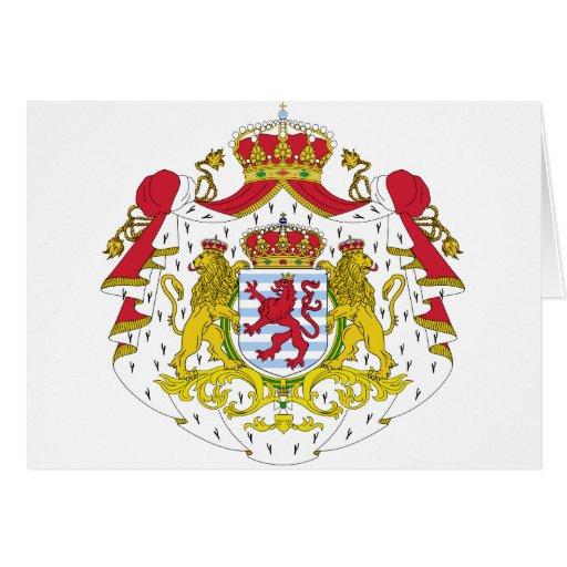 Escudo de armas de Luxemburgo Tarjeta De Felicitación