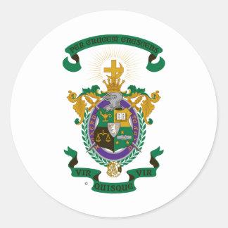 Escudo de armas de LXA Pegatina Redonda