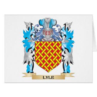 Escudo de armas de Lyle - escudo de la familia Tarjeta De Felicitación Grande