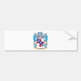 Escudo de armas de Lynam - escudo de la familia Pegatina Para Coche