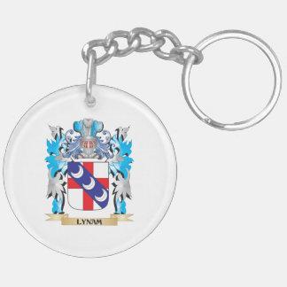 Escudo de armas de Lynam - escudo de la familia Llavero Redondo Acrílico A Doble Cara