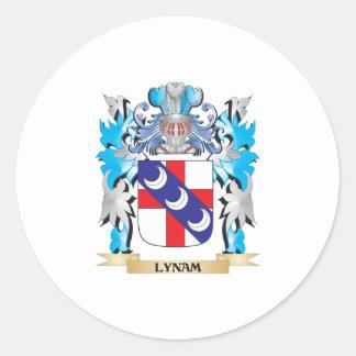 Escudo de armas de Lynam - escudo de la familia Pegatina Redonda